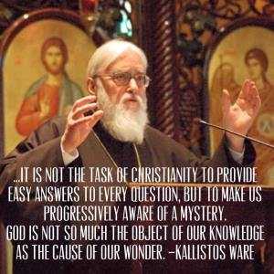 Kallistos Ware, Cause of our Wonder